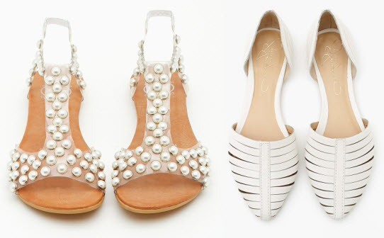 Nasty Gal Puffer Studded Sandal (Pearl) and Silverton Flat