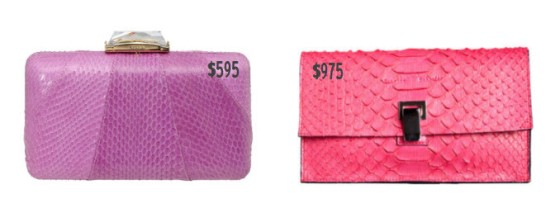 More Pink Snakeskin Clutches: Kotur and Proenza Schouler