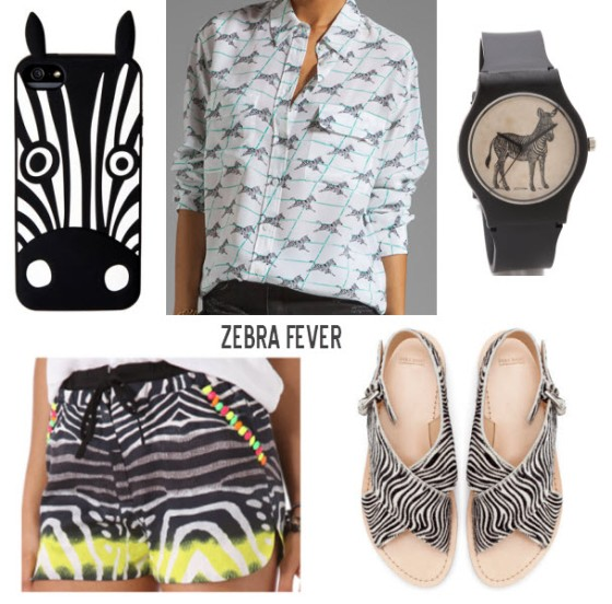 (clockwise from top left) Marc by Marc Jacobs iPhone case, Equipment blouse, May28th watch, Zara sandals, Line & Dot shorts