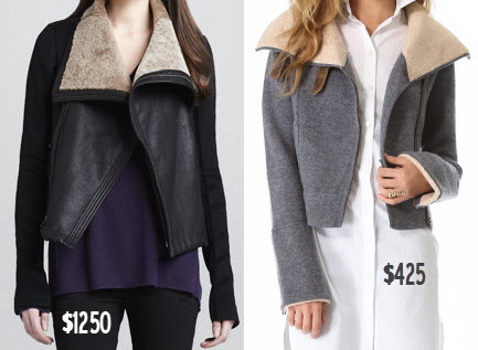 Vince Shawl-Collar Motorcycle Jacket vs. Twelfth St. by Cynthia Vincent Boiled Wool Moto Jacket