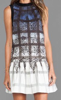 Tibi Lace Plaid Dress