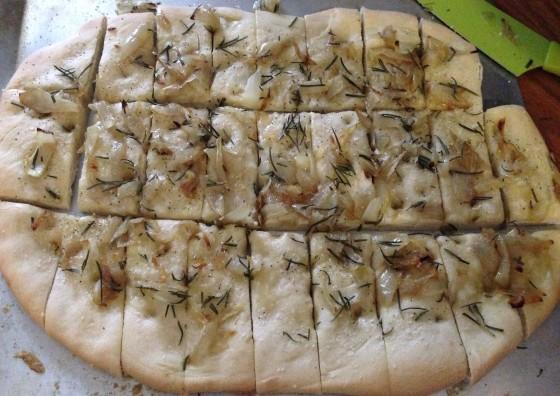 Onion Rosemary Fococcia