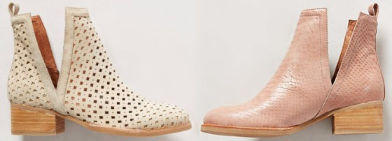 Anthropologie Wyatt Booties Coral